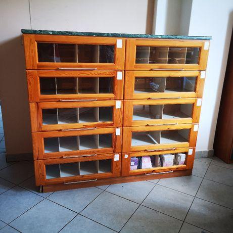 Regał Sklep Szafa Sklepowa Biblioteczna Kartotekowa Katalogowa Organ