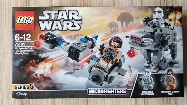 Nowe LEGO Star Wars 75195 - Ski Speeder kontra Maszyna krocząca Nowego