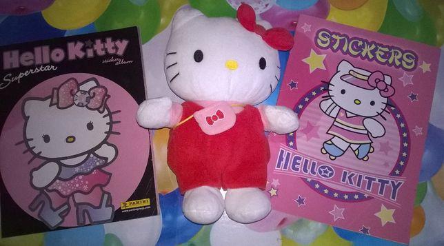 Hello Kitty + caderneta+livro pintar com autocolantes