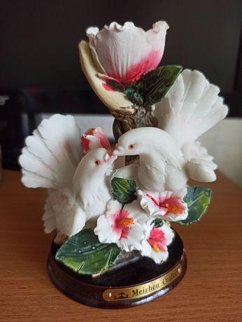Подсвечник керамика голуби