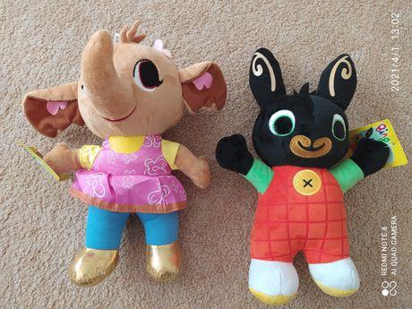 Bing, słonik Sula, bajka Bing maskotki, królik Bing