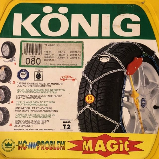 Łańcuchy śniegowe Konig 080, model T2 Magic 10mm Warszawa - image 1