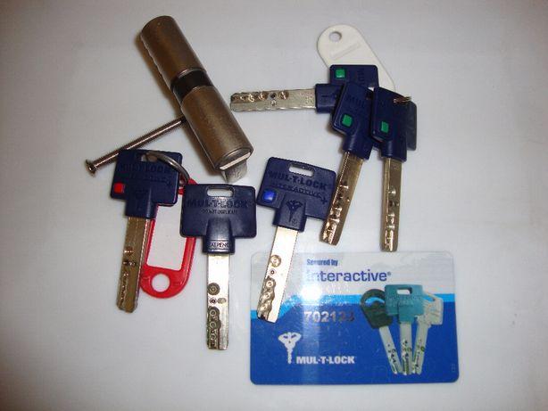 Cilindro para porta tipo YALE MUL-T-LOCK 30/30 M/M