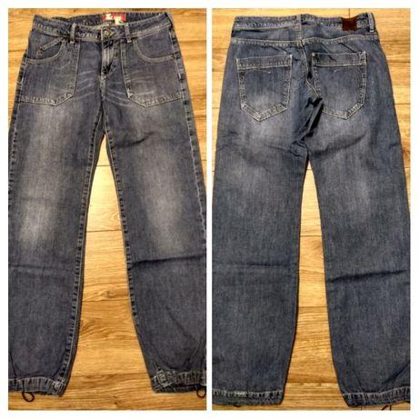 Spodnie jeansowe, jeansy joggery 152