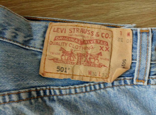 Męskie dżinsy niebieskie Levi's oryginalne spodnie