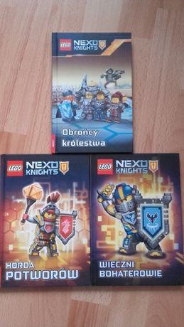 Książki NEXO KNIGHTS 3szt. (nowe)