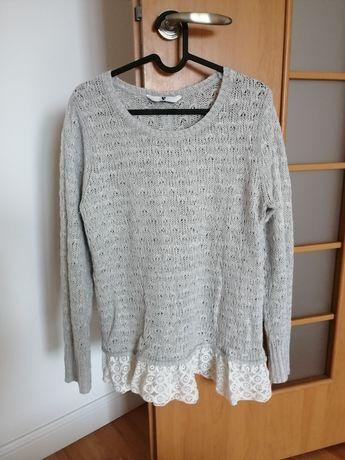 Modny sweter, akryl + alpaka, rozmiar 40