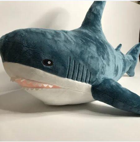 Акула Мягкая на ощупь с Зубами игрушка 60 см. В Наличии!