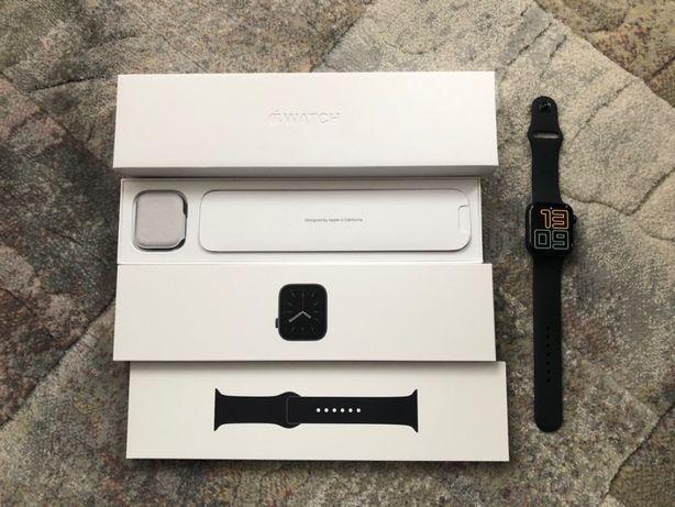 Apple Watch Series 6 44mm grey. Nowy, grafitowy z czarnym paskiem!