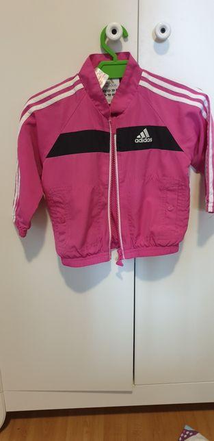 Bluza Kurtka wiosenna adidas 74 różowa dla dziewczynki