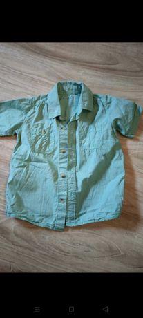 Koszula chłopięca z krótkim rękawem  110-116