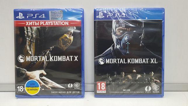 Mortal Kombat X и XL для Sony Play Station 4 (PS4) Новые Диски
