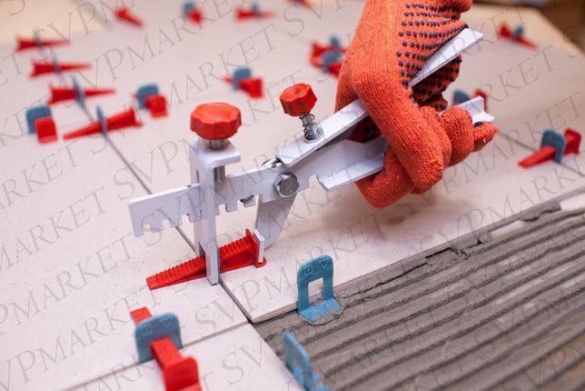 Система выравнивания плитки СВП NOVA 1000 зажим+400 клин+ 1 инстр.мет.