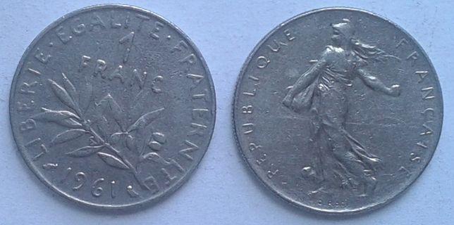 Франция. 1 франк, никель, разных годов