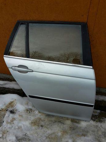 Drzwi Prawe Prawy tył tylne Bmw E46 330d Kombi TITANSILBER Lift 02r
