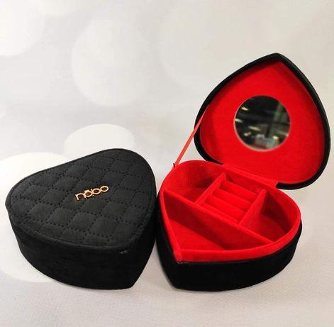 Szkatulka na biżuterię nobo czarna welur