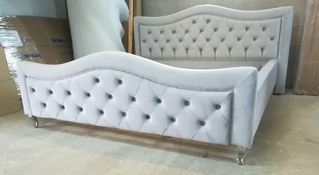Łóżko sypialniane, tapicerowane GREY DELUX - wyjątkowe, eleganckie