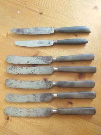 talheres 4 garfos, 7 facas antigas, cabo madeira