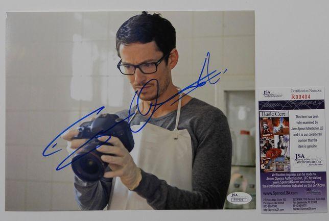 Zdjęcie oryginalny autograf Simon Quarterman 8x10 Certyfikat JSA