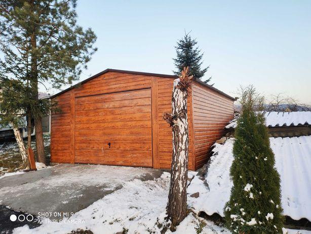 Garaż drewnopodobny 5x8