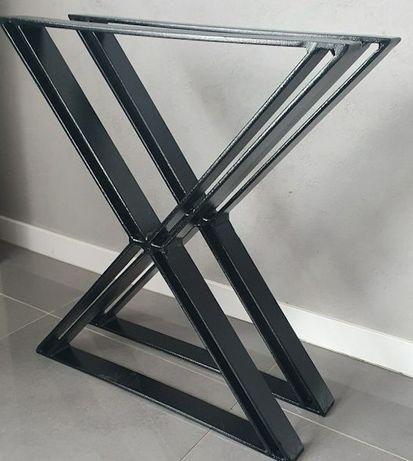 Nogi metalowe czarne stelaż do stołu. Loft industrial X 71