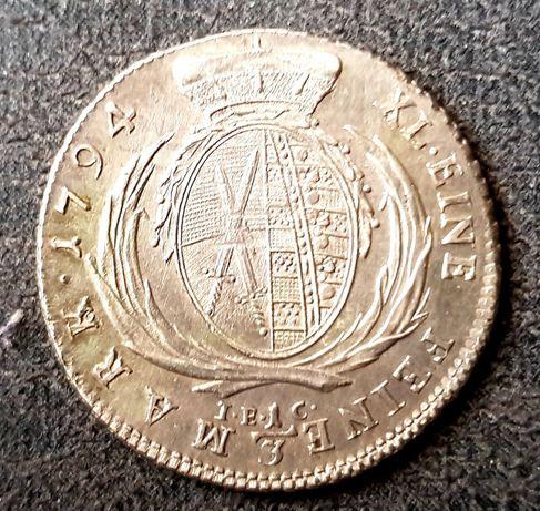 1/3 talara 1794 rok ,Saksonia. Drezno