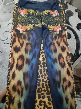 Лосины синие леопар)