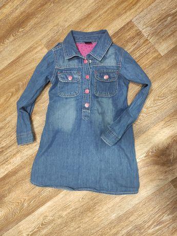 Джинсовое платье для девочки на каждый день в садик kiki koko 4 5 лет