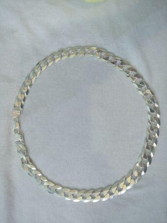 łańcuch Pancerka diamentowana, 115,7 g. 55 cm. szer. 14 mm.