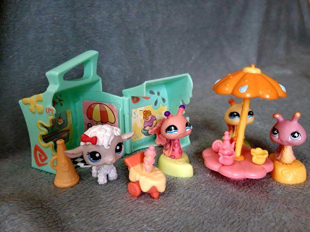 Zestaw Littlest PetShop kawiarnia + 4 figurki PetShop