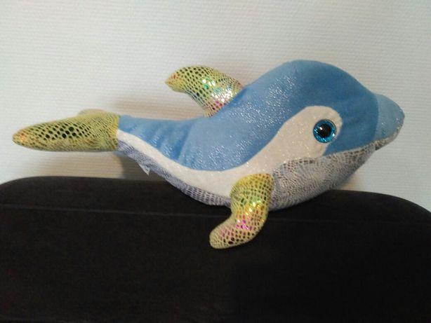 Delfin przytulanka błyszcząca