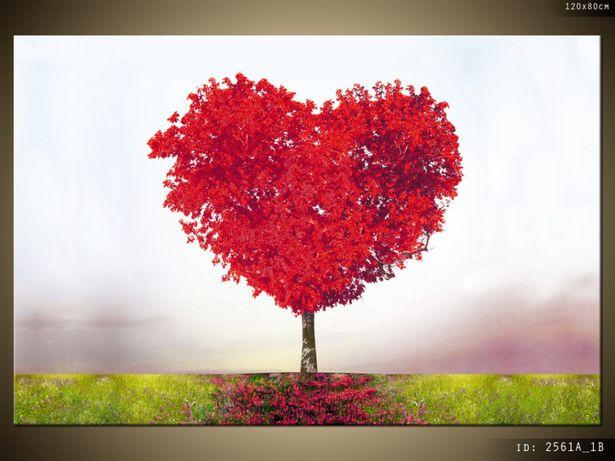 Drzewko miłości, Obraz na płótnie, Canvas, TRYPTYK, pomysł na prezent