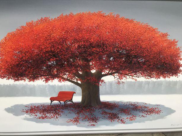Картина«Дерево счастья»,масло ,холст 110-70см.,исполняю на заказ рабо
