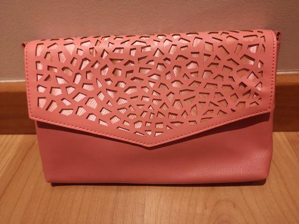 "Clutch/Mala de cerimónia rosa coral, nova, ""Oriflame"""