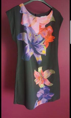 sukienka/tunika w kwiaty new look