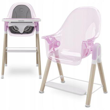 NOWE Pochylane krzesełko do karmienia 2w1 Lionelo Maya niskie krzesło