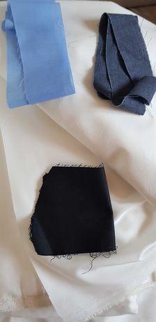 Ткань белая - черная для пошива маски
