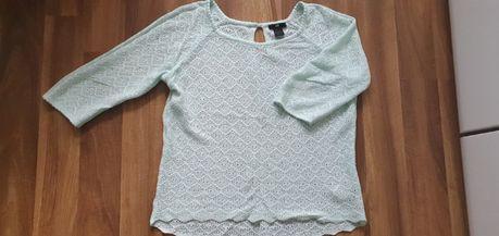 Ażurowy miętowy sweterek