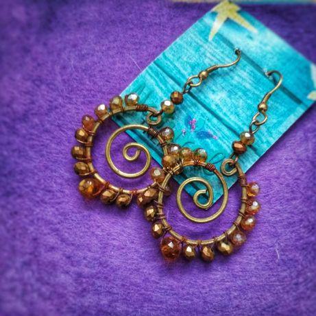 Kolczyki z Meksyku w stylu Boho hand made