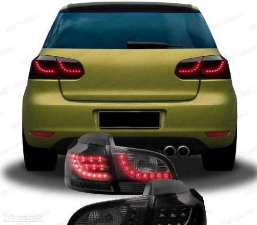 CONJUNTO DE FAROLINS VW GOLF 6 08-12 NEW LED STYLE FUMADOS