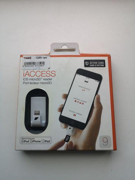 Картридер для iPhone Leef Access iOS micro SD