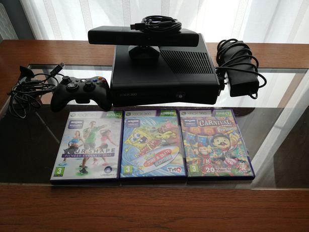 Xbox 360 + 3 gry na Kinecta (320gb)