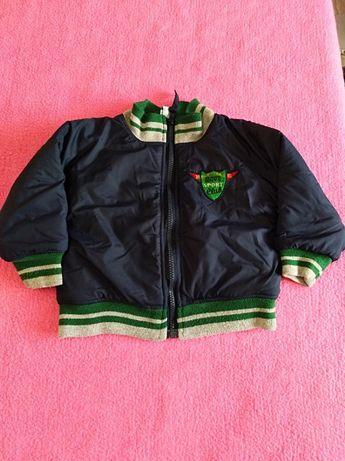 Kurtka chłopięca jesienna/ przejściowa 5-10-15 r. 92 + bluza r. 90
