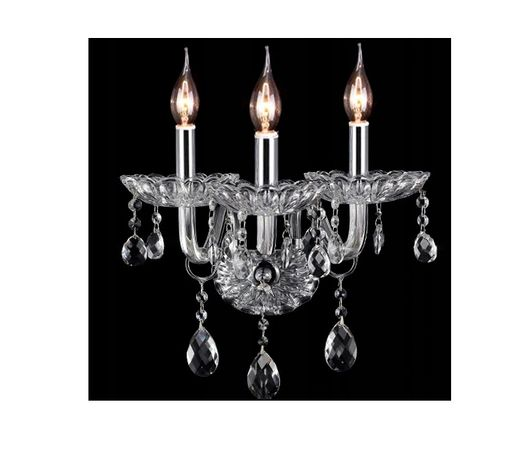 Kinkiet Lampa kryształowa GLAMOUR potrójna szkło NOWA