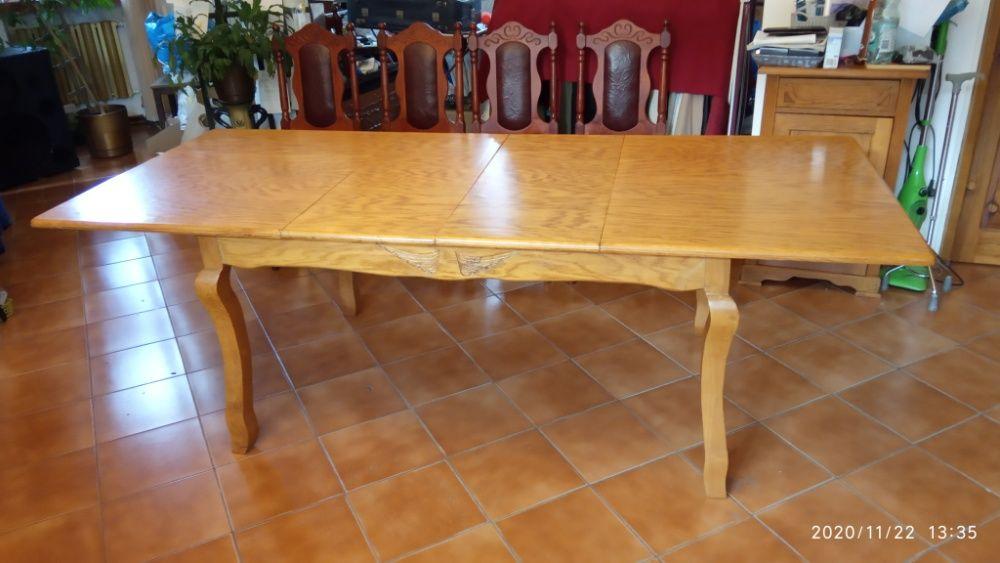 Duży drewniany rozkładany stół, 3 długości, max 230 cm
