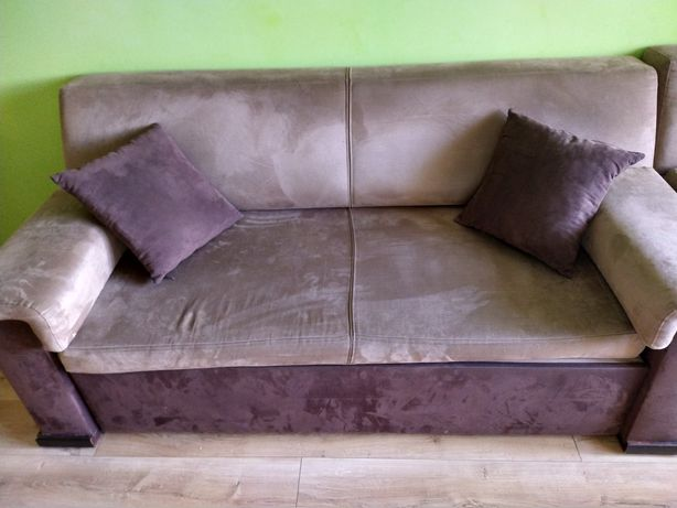Sofa+fotel Black Red White