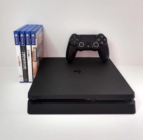 Czarna Konsola Sony Playstation 4 SLIM! 500 GB! Pad ! 8 GIER! Komplet!