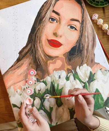 Подарок девушке - портрет, который она нарисует по контурам