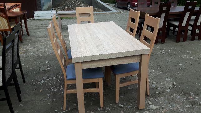 Stół 140x80x40 Sonoma + 6 krzeseł