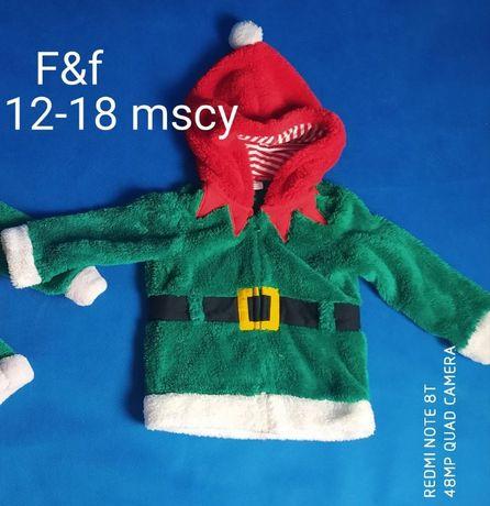 Bluza zapinana Elf motyw Świąteczny 80 - 86 cm 12-18 mscy